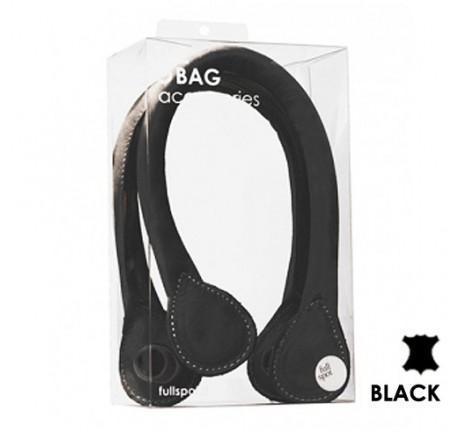 19b082bf Obag- Krótkie uchwyty | skóra naturalna | kolor czarny
